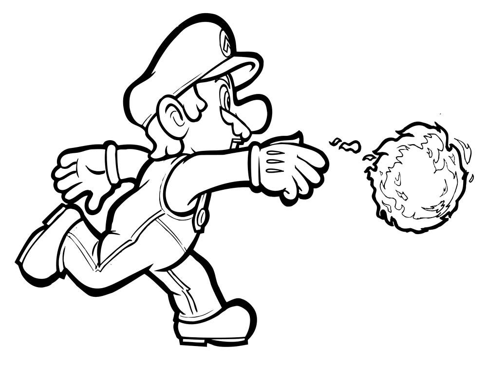 Descargar dibujos para colorear - Mario.