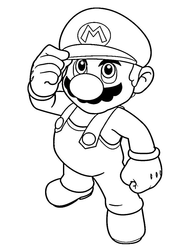 Descargar gratis dibujos para colorear – Mario.