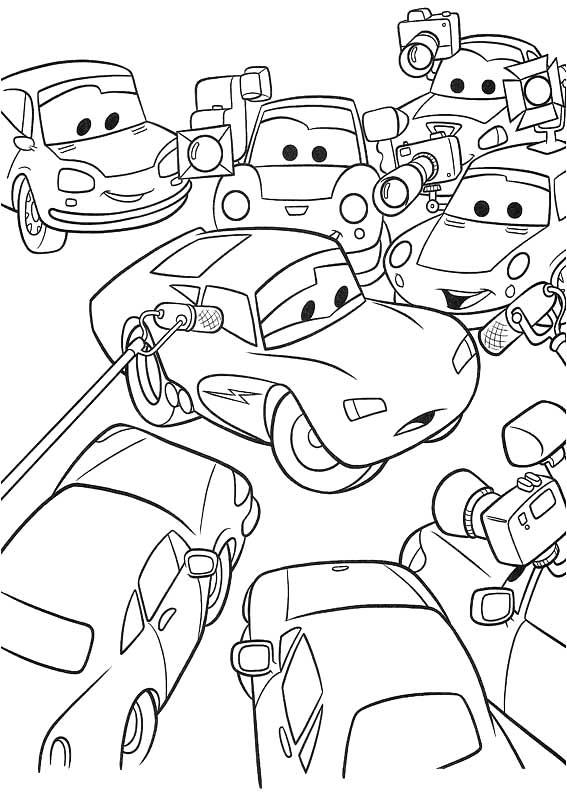 Imprimir imgenes dibujos para colorear  el Rayo McQueen para