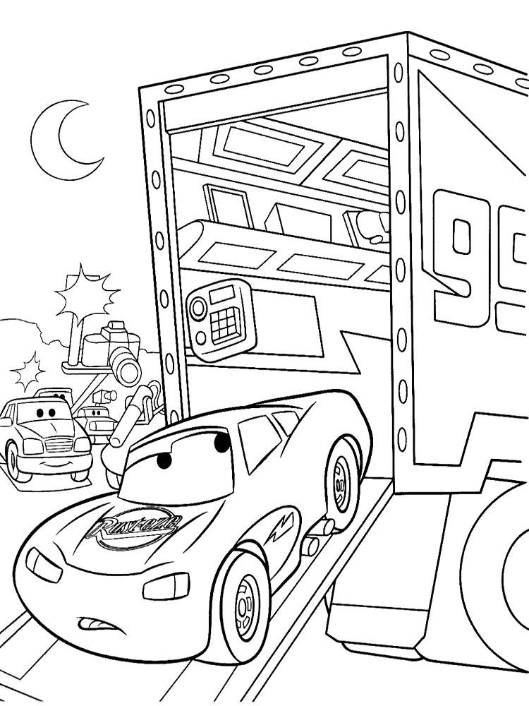 Dibujos para colorear  el Rayo McQueen para nias y nios