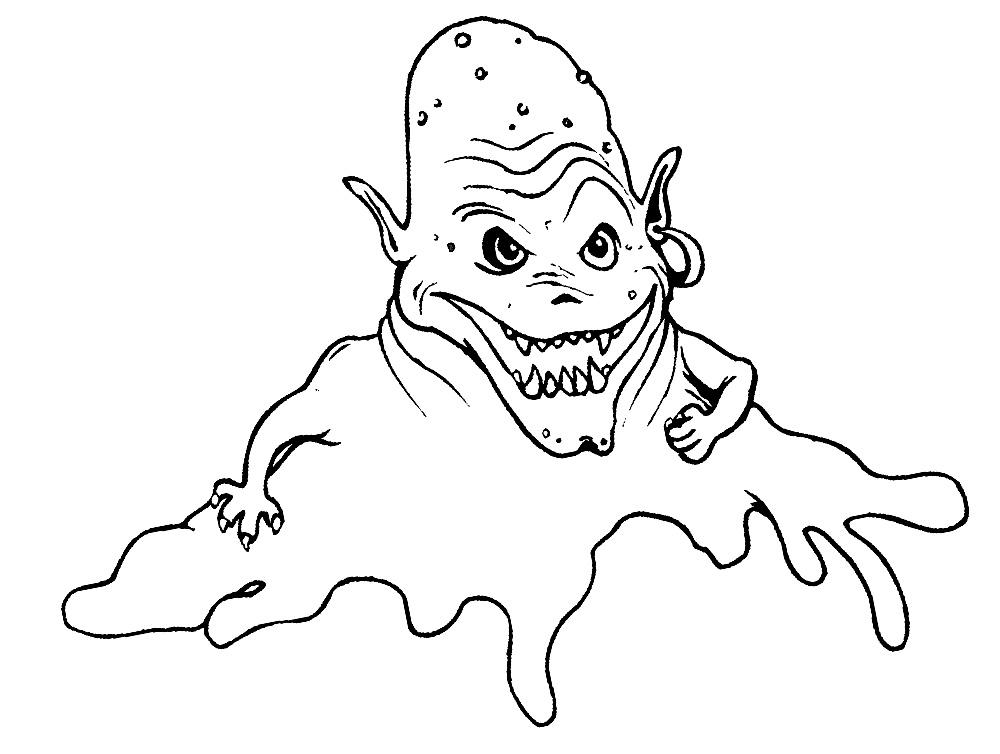 Imprimir dibujos para colorear – monstruos, para niños y niñas