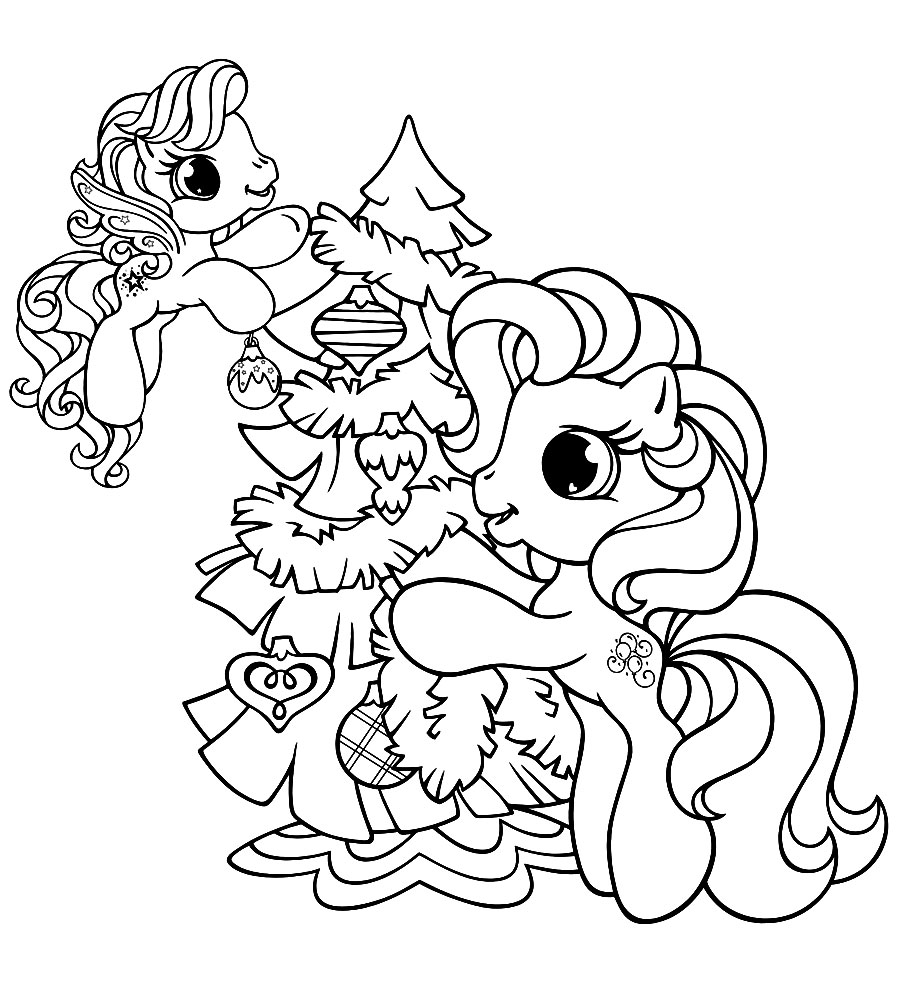 Descargar gratis dibujos para colorear – My Little Pony.
