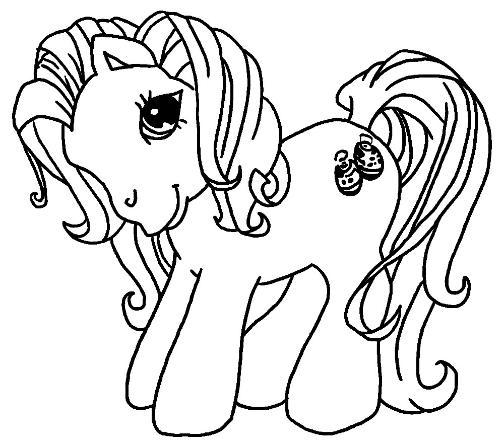 Algo útil para niñas y niños – dibujos para colorear – My Little Pony