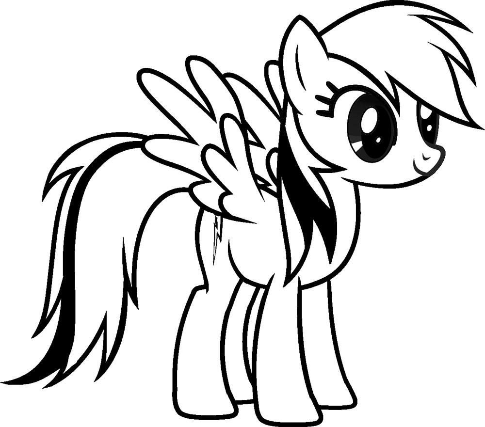 Dibujos para colorear – My Little Pony, para desarrollar la ...