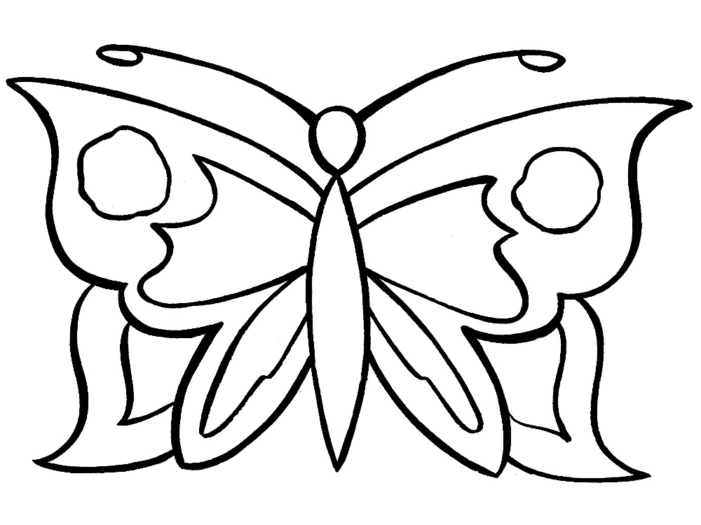 Butterfly – dibujos animados infantiles, para colorear