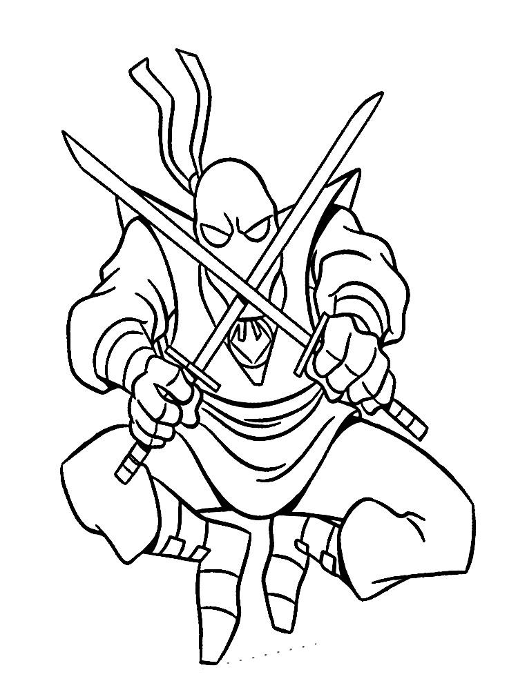 Asombroso Página Para Colorear Ninja Regalo - Dibujos Para Colorear ...