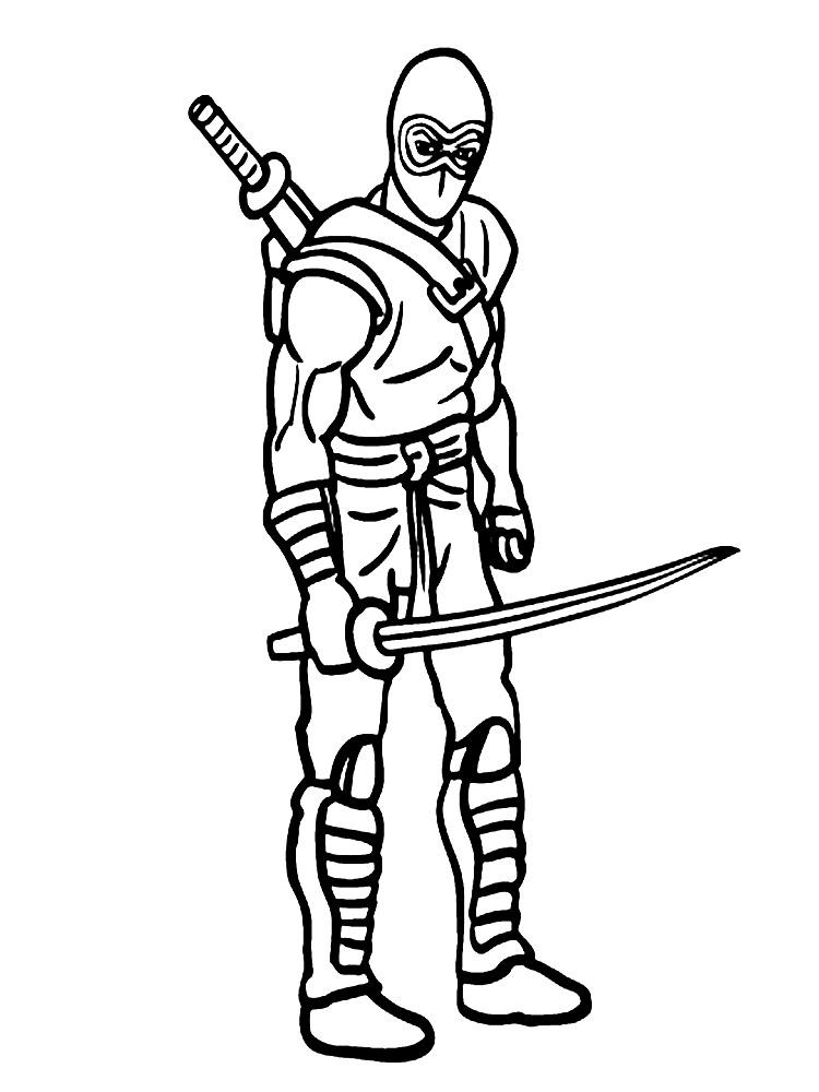 Lujo Colorear Ninja Motivo - Dibujos Para Colorear En Línea ...