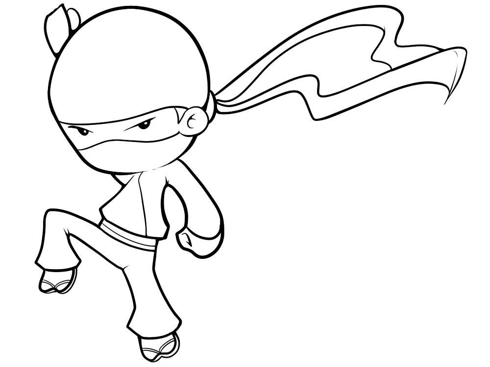 Dibujos para colorear – ninja, para niñas y niños