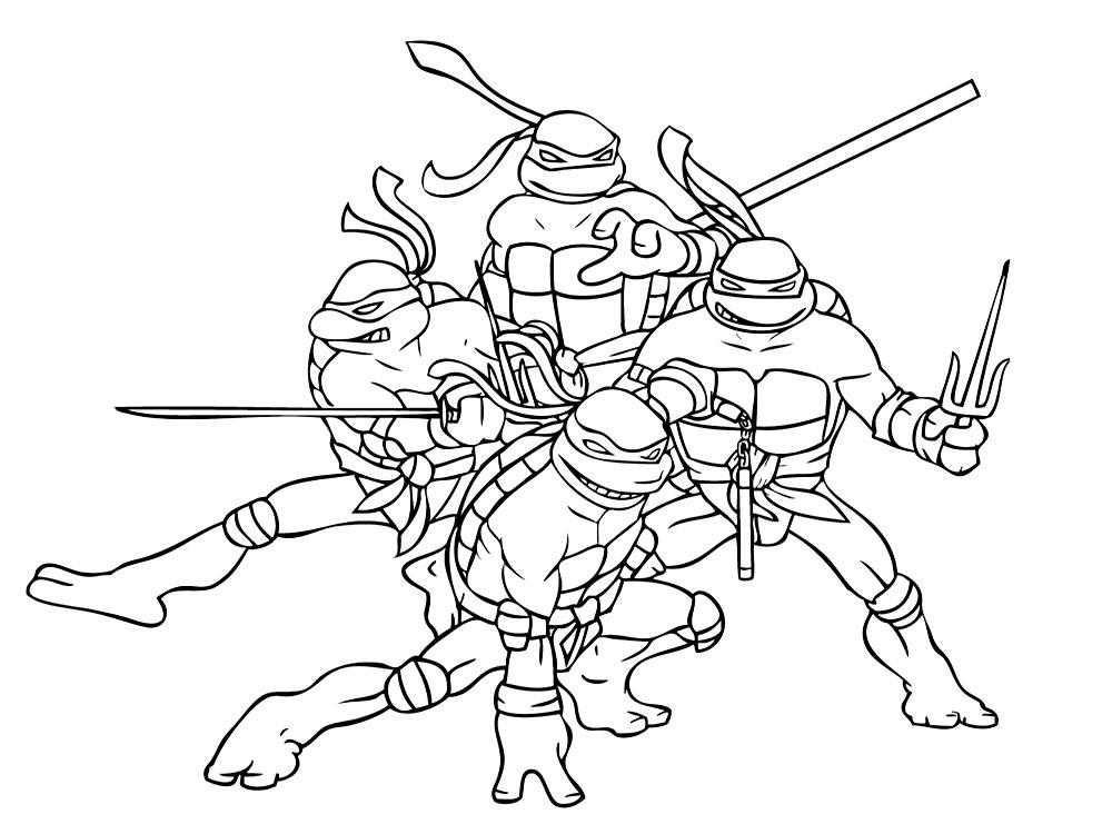 Descargar gratis dibujos para colorear – ninja.
