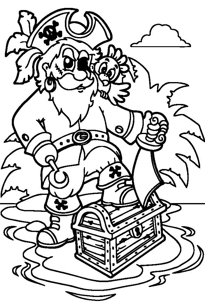 Piratas Dibujos Infantiles Para Colorear Para Niños Y Niñas