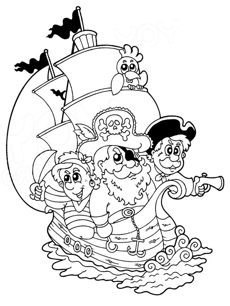 Dibujos Para Colorear Piratas Para Niños