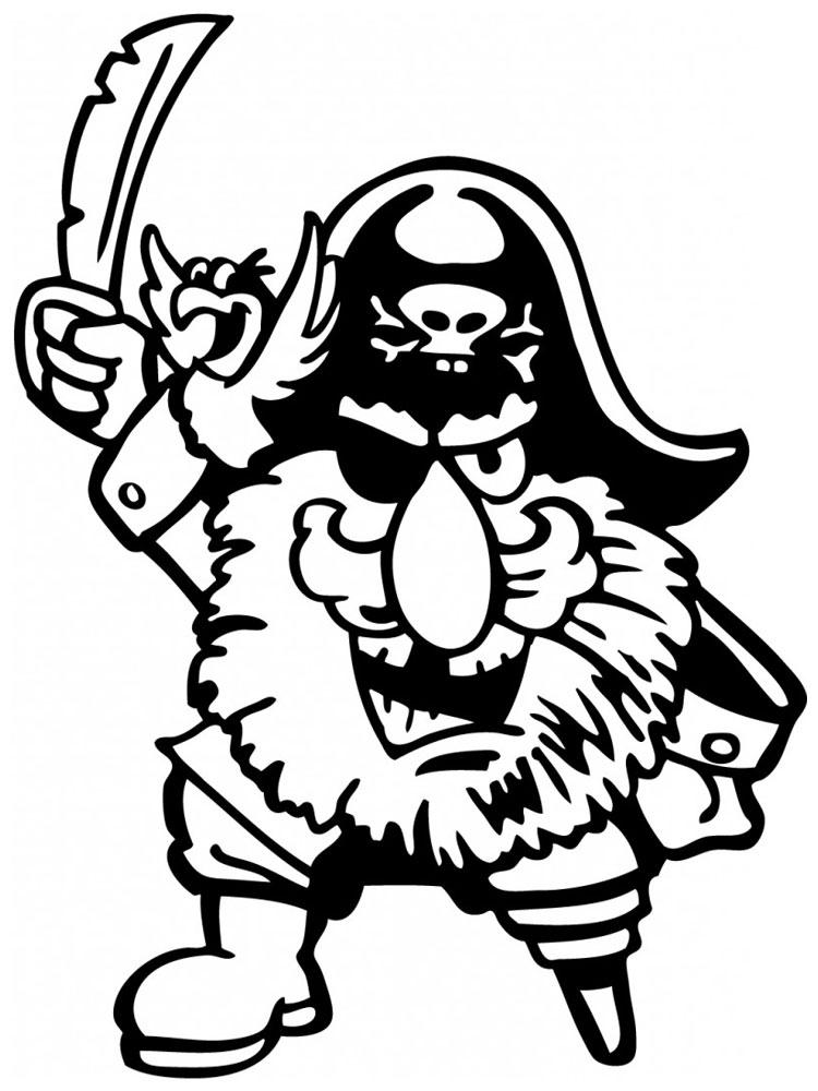 Imprimir imágenes dibujos para colorear – piratas, para niños y niñas