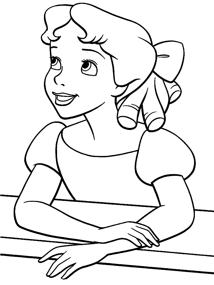 Imprimir dibujos para colorear  Peter Pan para nios y nias