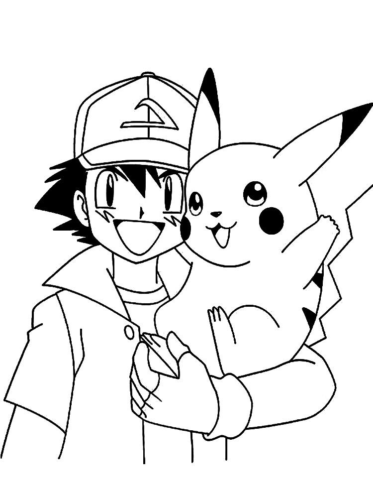 Dibujos para colorear - Pokemon, para niñas y niños