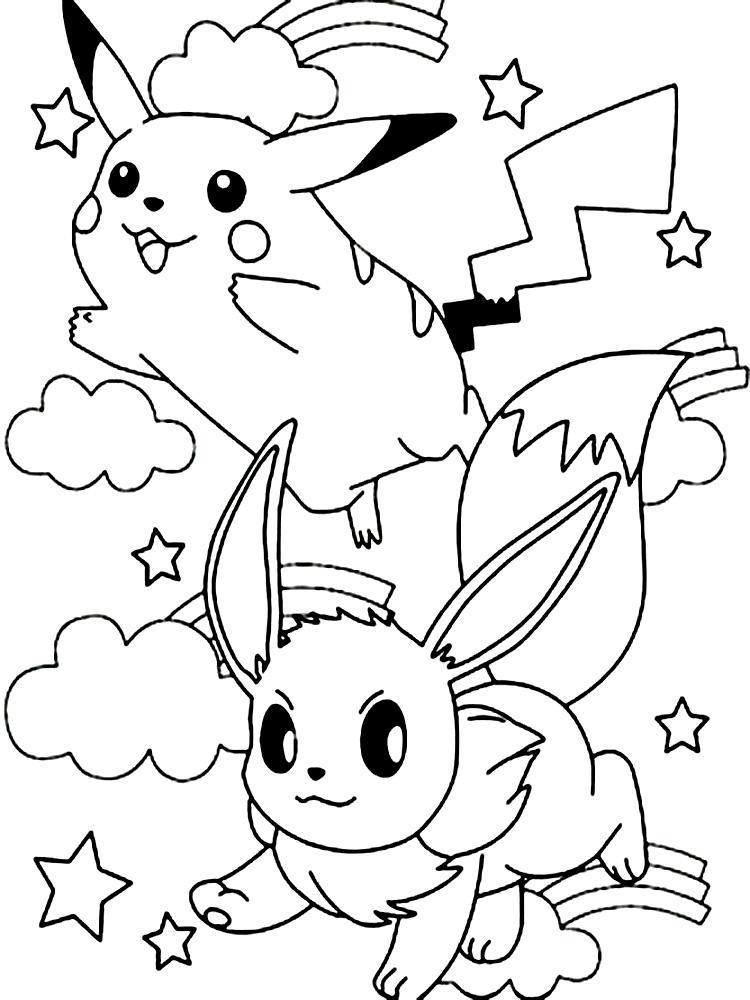 Dibujos animados para colorear – Pokemon, para niños pequeños.