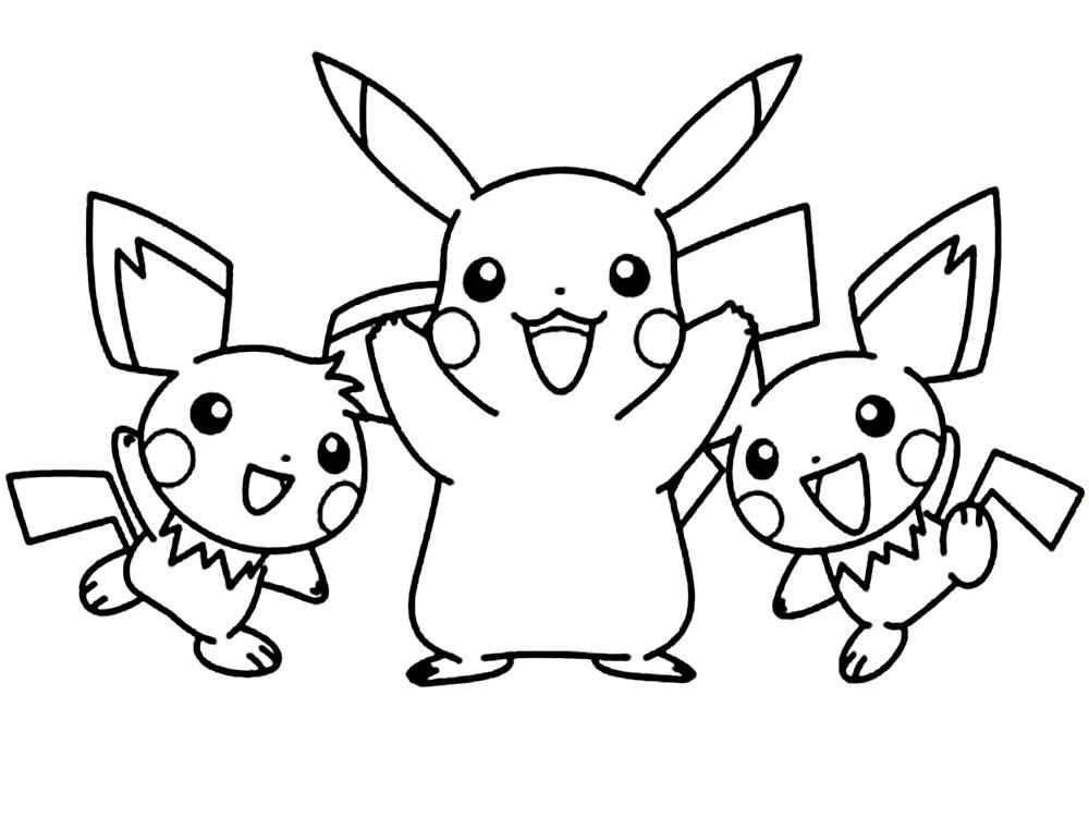 Imprimir imágenes dibujos para colorear – Pokemon, para niños y niñas