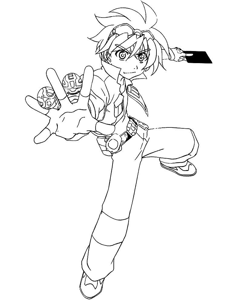 Dibujos para colorear – Bakugan, para niños