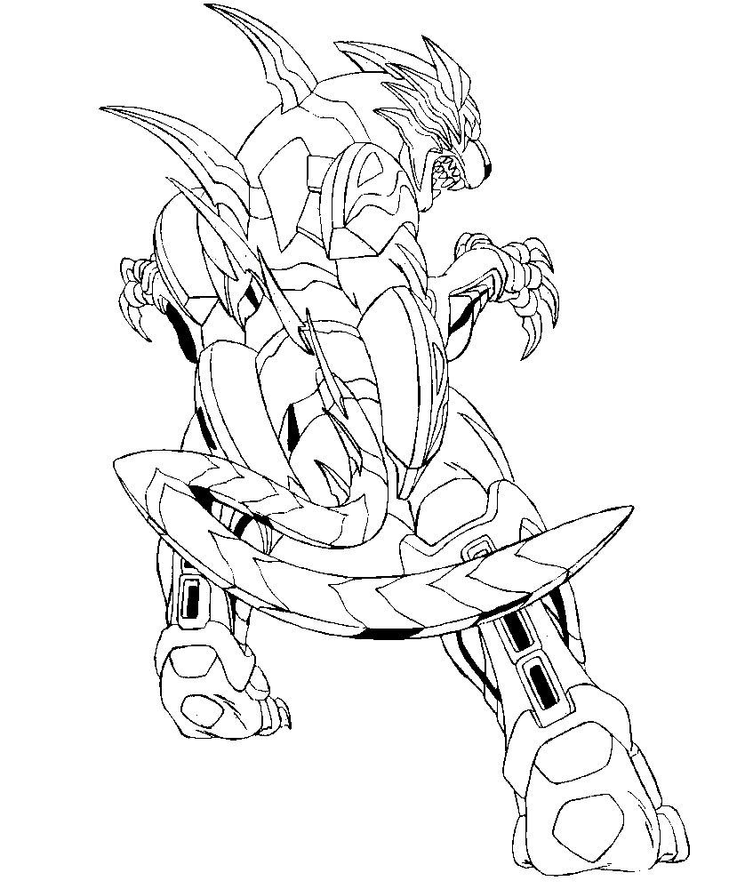 Descargamos dibujos para colorear – Bakugan.
