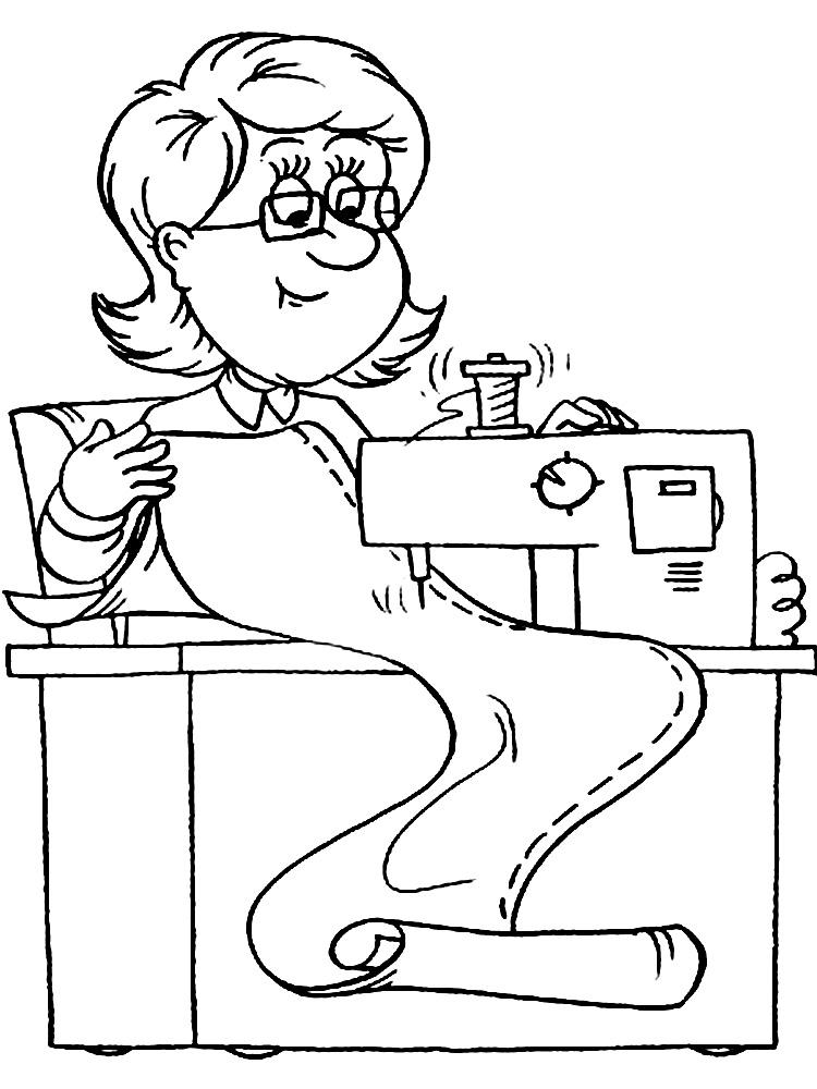 Imprimir imágenes dibujos para colorear – profesiones, para niños