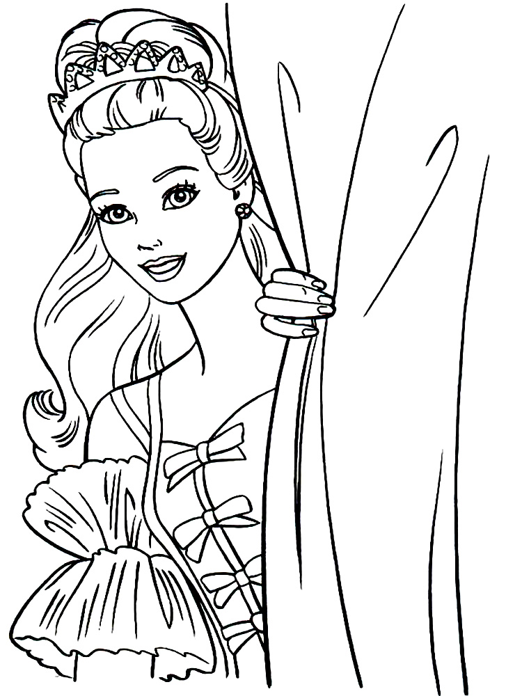 Barbie Descargar Gratis Dibujos Para Colorear