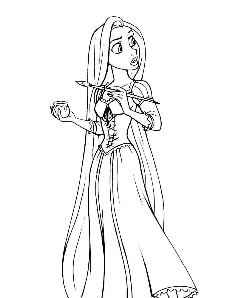 Rapunzel Descargar Gratis Dibujos Para Colorear