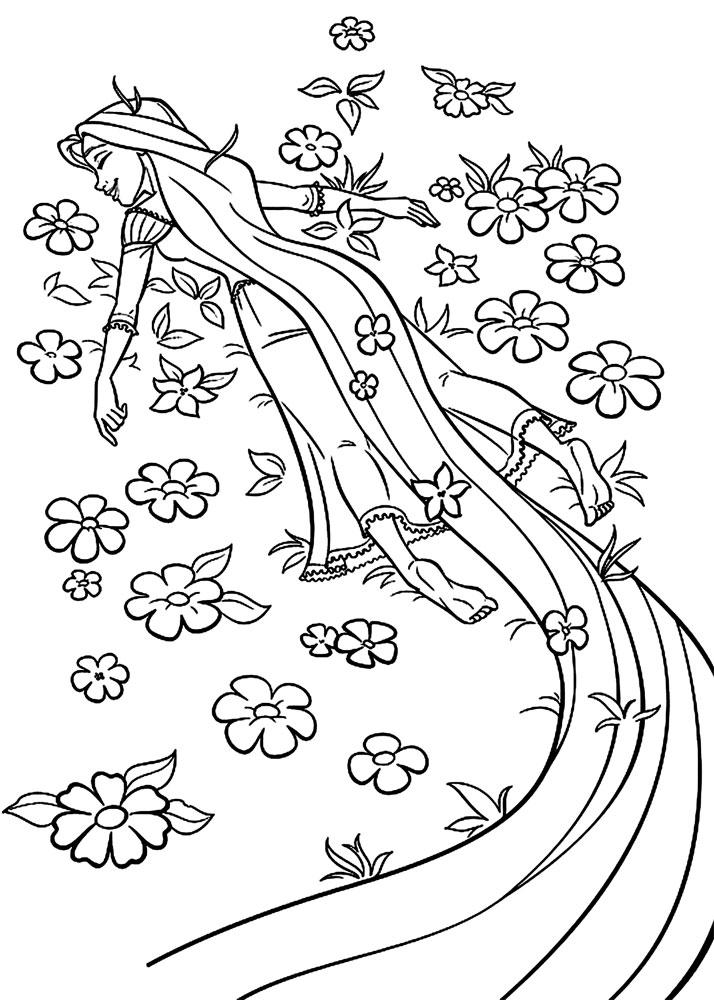 Descargue E Imprima Gratis Dibujos Para Colorear Rapunzel