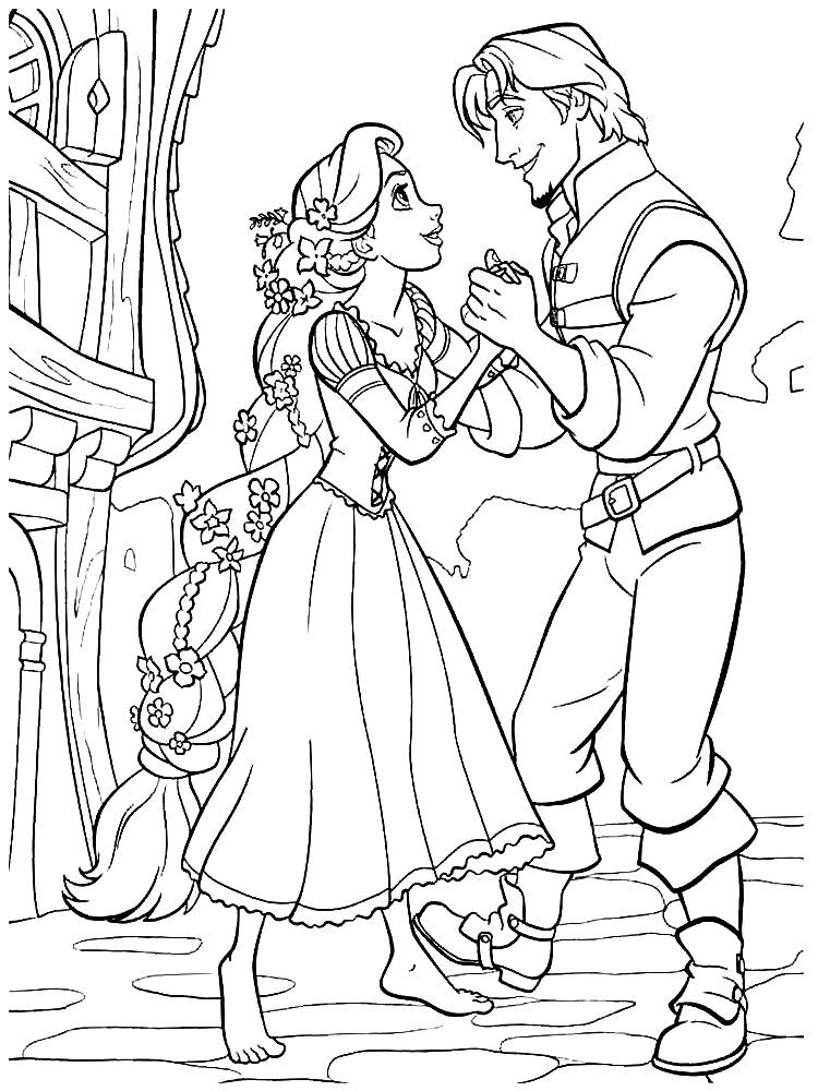 Dibujos para colorear  Rapunzel para nias y nios
