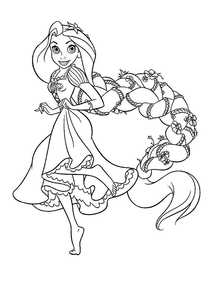 Rapunzel – dibujos animados infantiles, para colorear