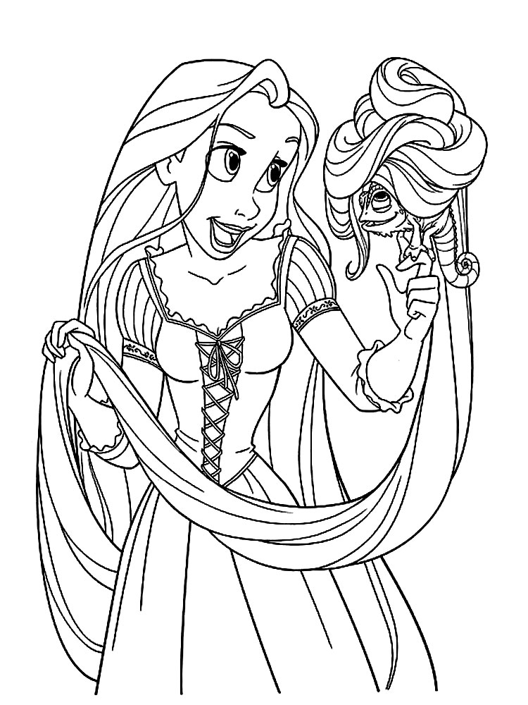 1691 Dibujos para colorear Rapunzel imprimir gratis
