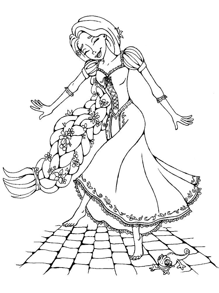 Imprimir imgenes dibujos para colorear  Rapunzel para nios y nias