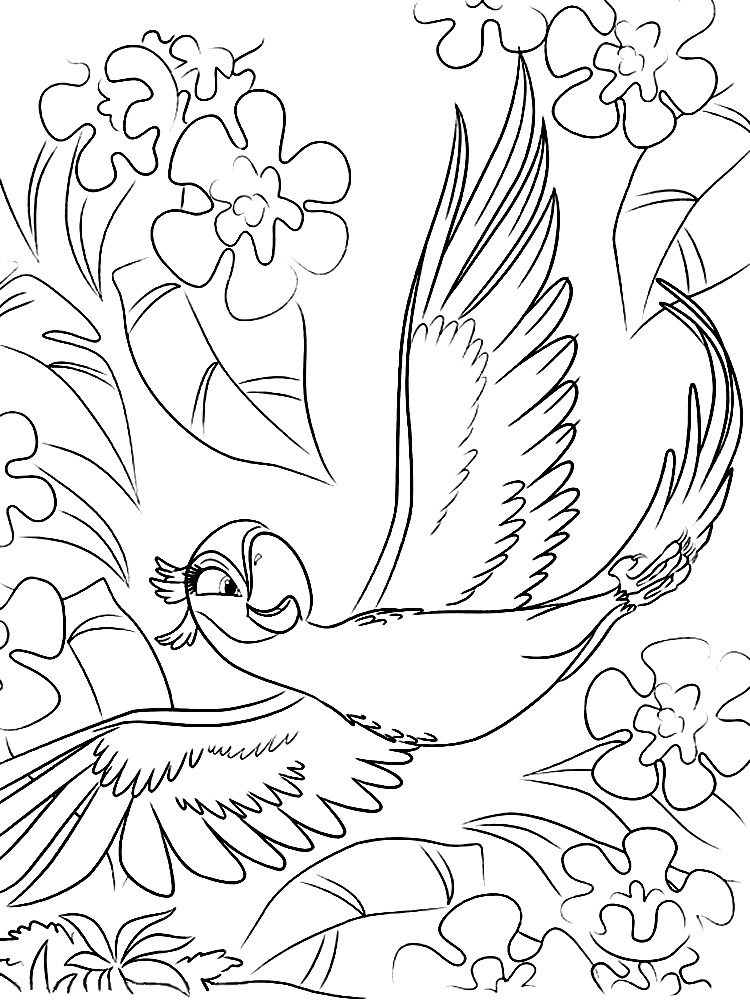 Río Dibujos Animados Infantiles Para Colorear
