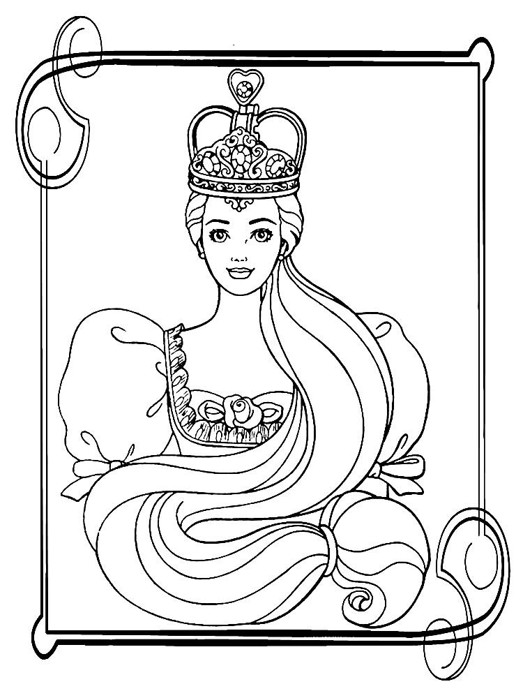 Imprimir imágenes dibujos para colorear – Barbie, para niños y niñas
