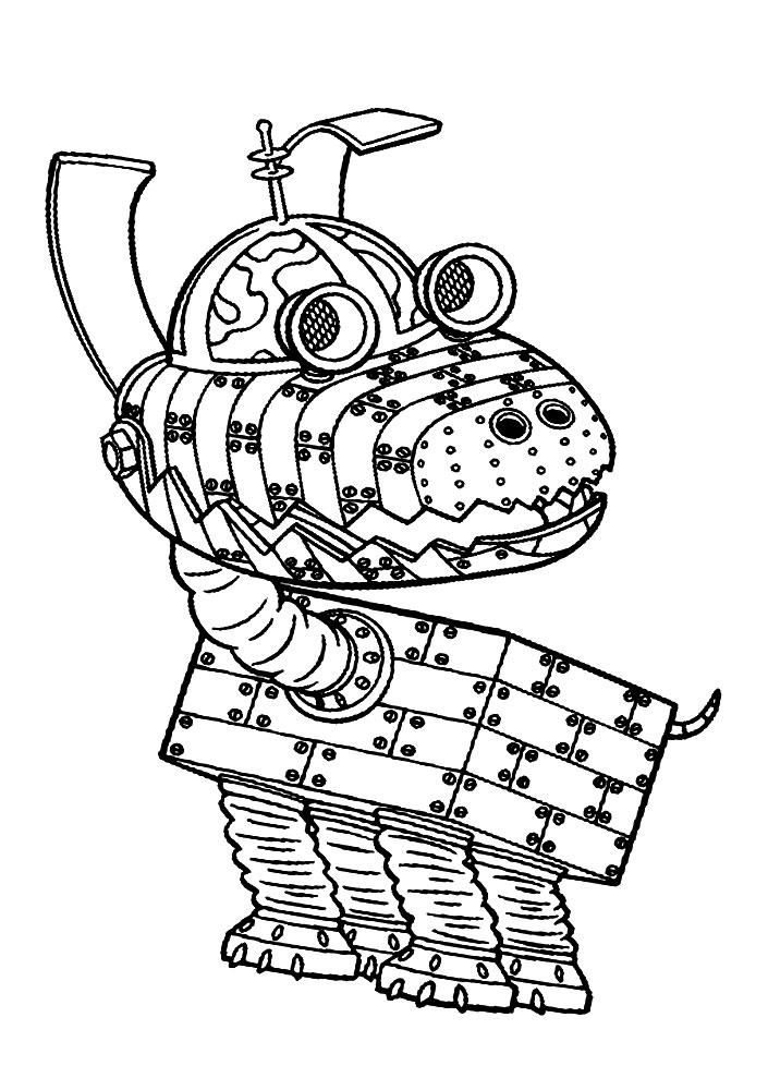 Robots Dibujos Animados Infantiles Para Colorear