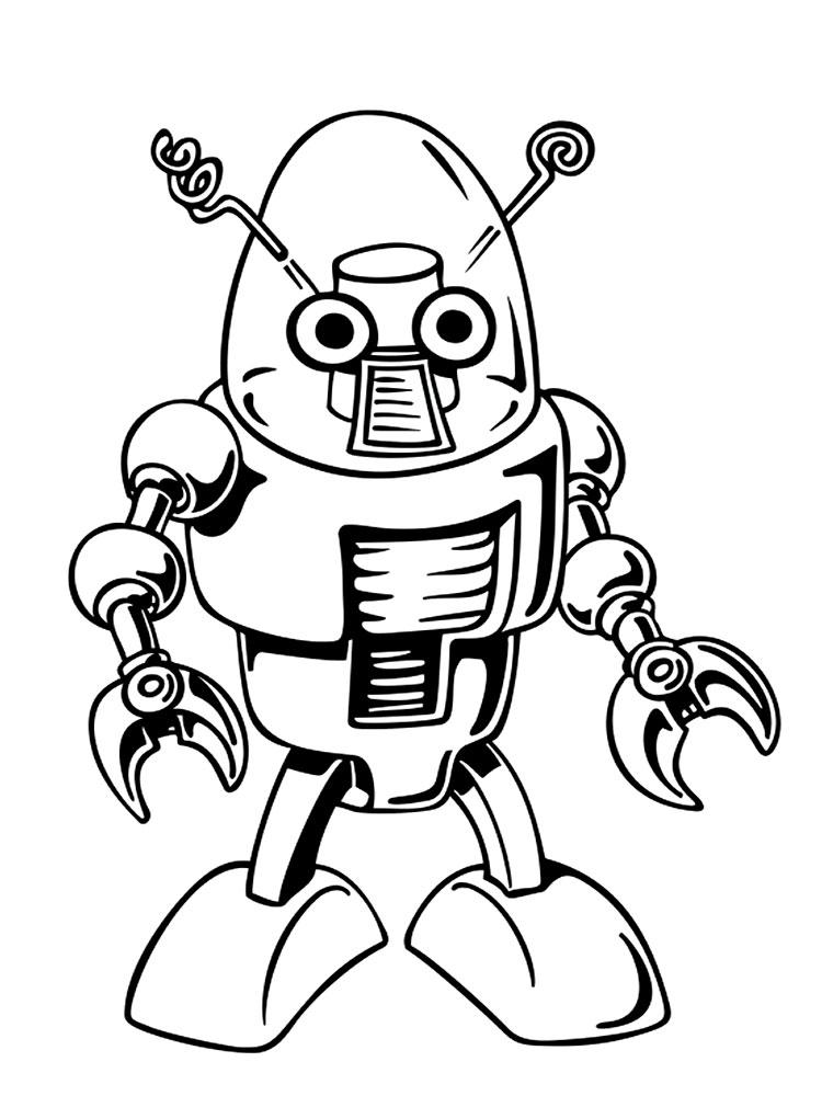 dibujos para colorear  robots imprimir gratis
