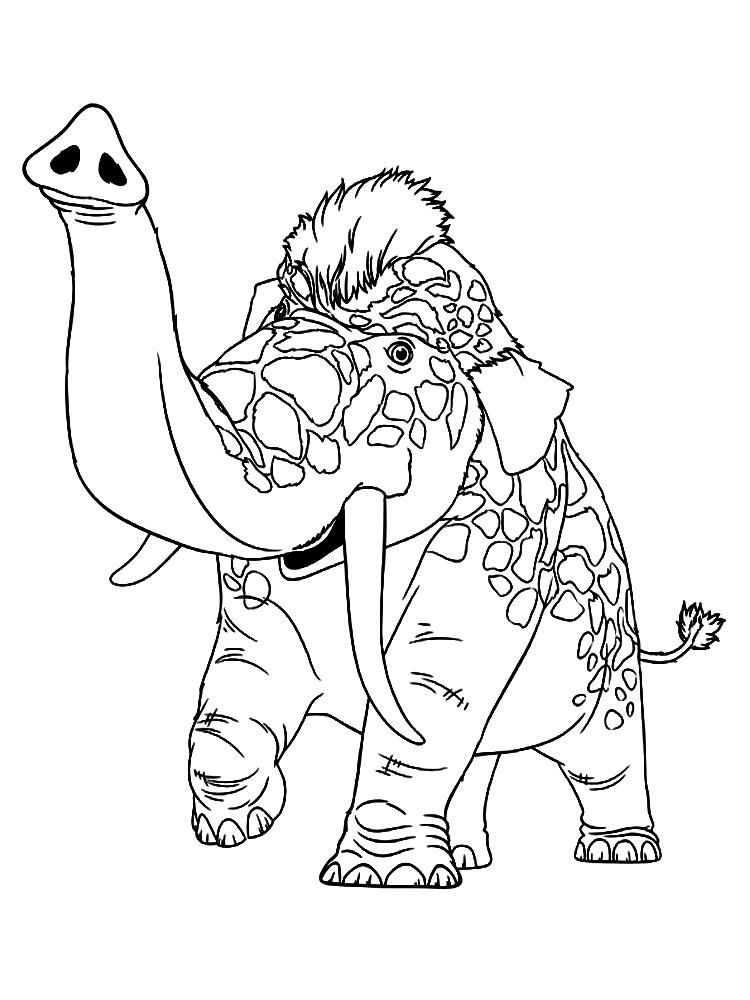 Dibujos Animados Para Colorear Los Croods Para Ni 241 Os