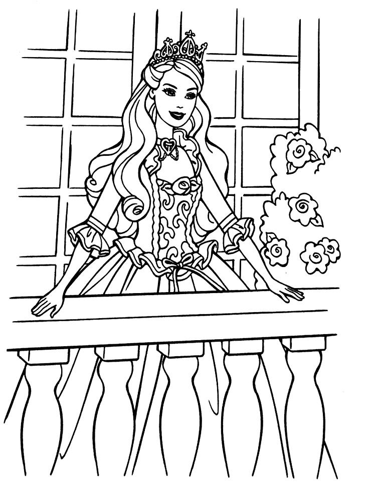 Gratuitos dibujos para colorear – Barbie, descargar e imprimir