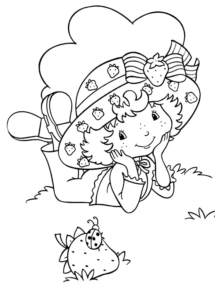 Vistoso Strawberry Shortcake Para Imprimir Para Colorear Regalo ...