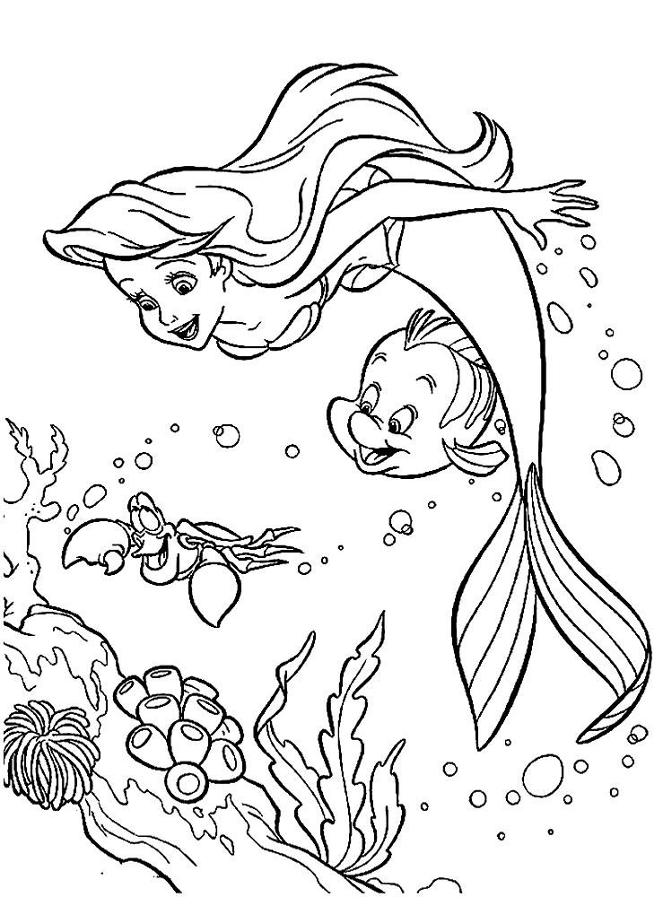 Descargar gratis dibujos para colorear – La sirenita.