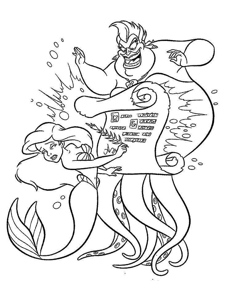 Imprimir Imágenes Dibujos Para Colorear La Sirenita Para