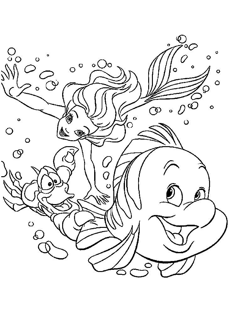 Gratuitos Dibujos Para Colorear La Sirenita Descargar E Imprimir