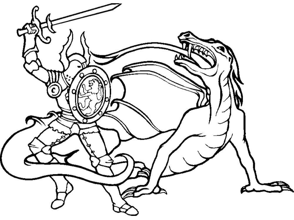 Hermosa Caballeros Y Dragones Para Colorear Ideas - Dibujos Para ...