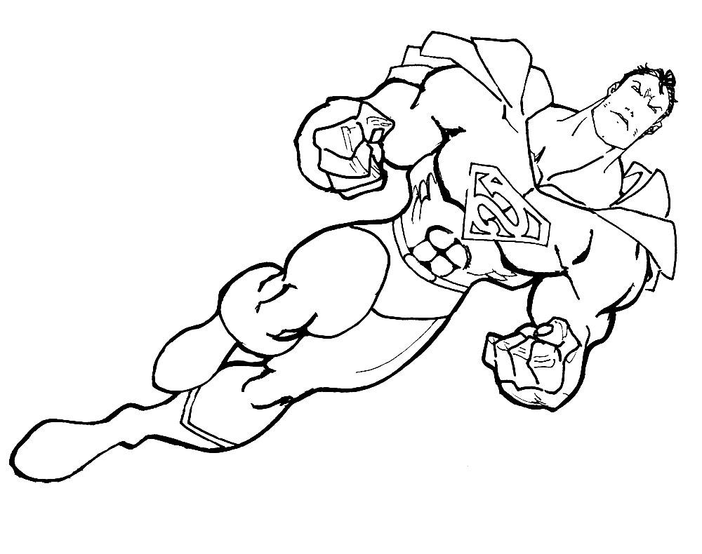 Imprimir dibujos para colorear – superhéroes, para niños y niñas