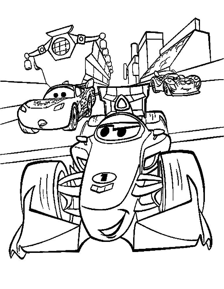 Dibujos Para Colorear Cars 2 Para Niñas Y Niños