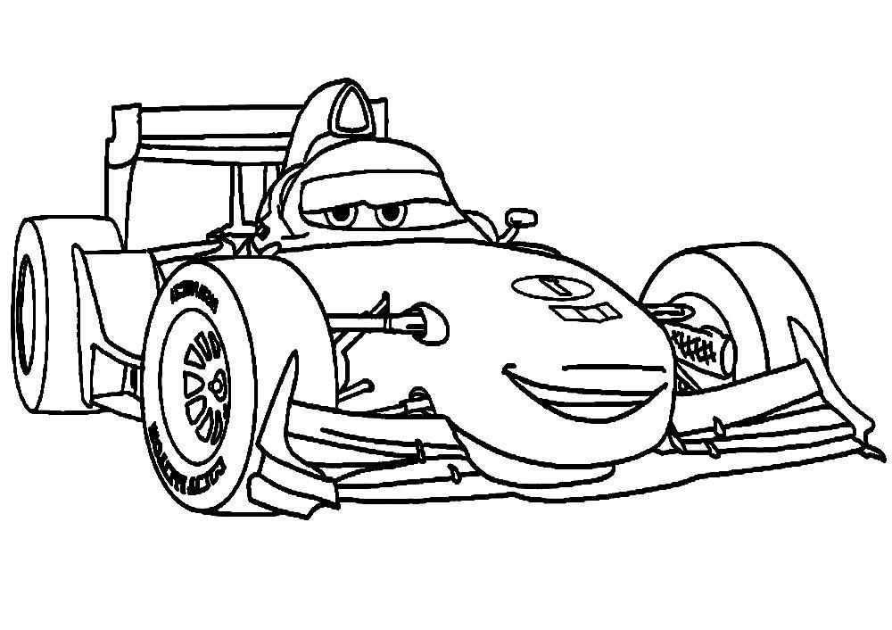 Dibujos animados para colorear  Cars 2 para nios pequeos