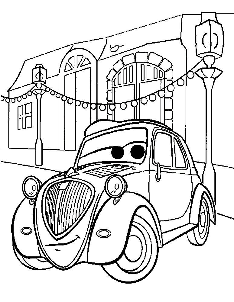 Cars 2 Dibujos Animados Infantiles Para Colorear
