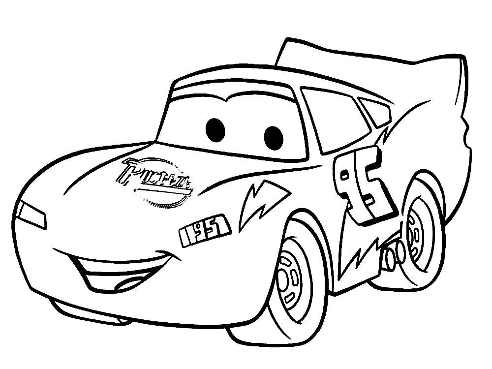 Dibujos para colorear – Cars 2, para desarrollar la ...