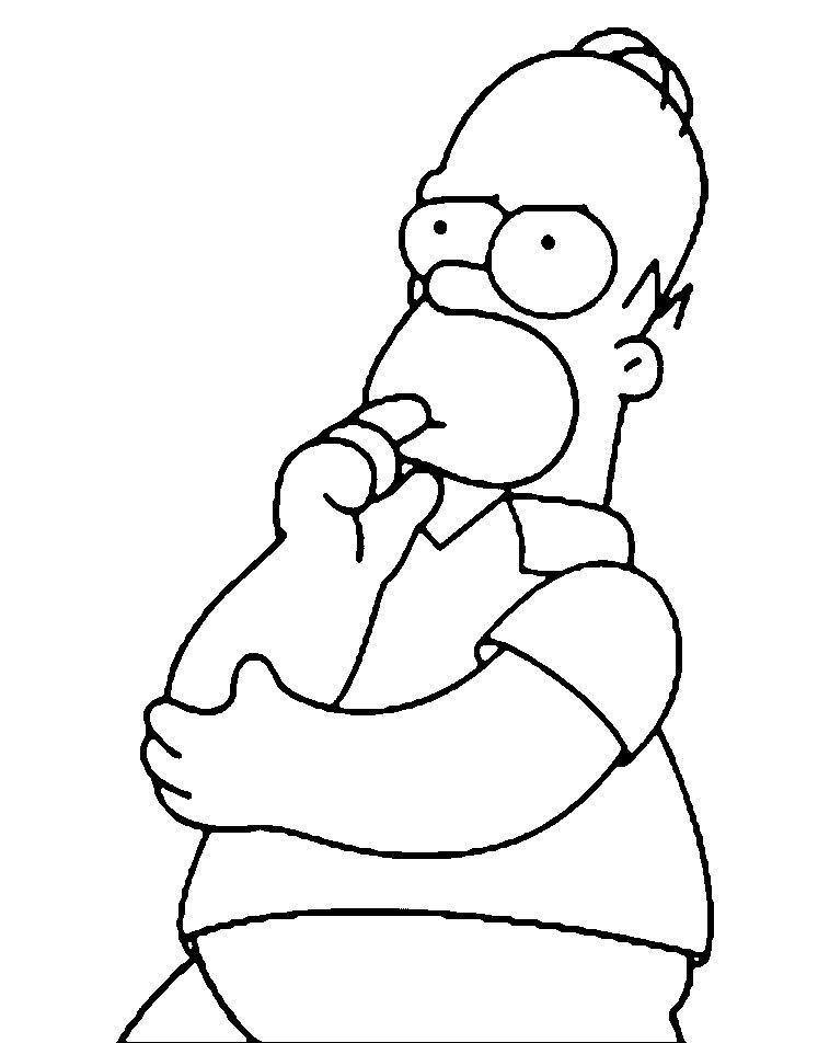 Dibujos Animados Para Colorear Los Simpson Para Niños