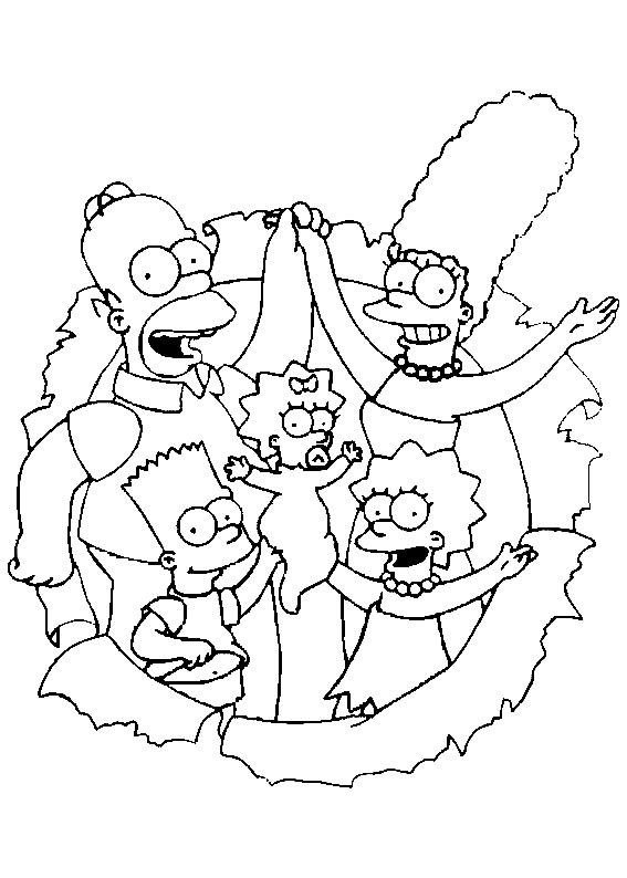 Imprimir Gratis Dibujos Para Colorear Los Simpson