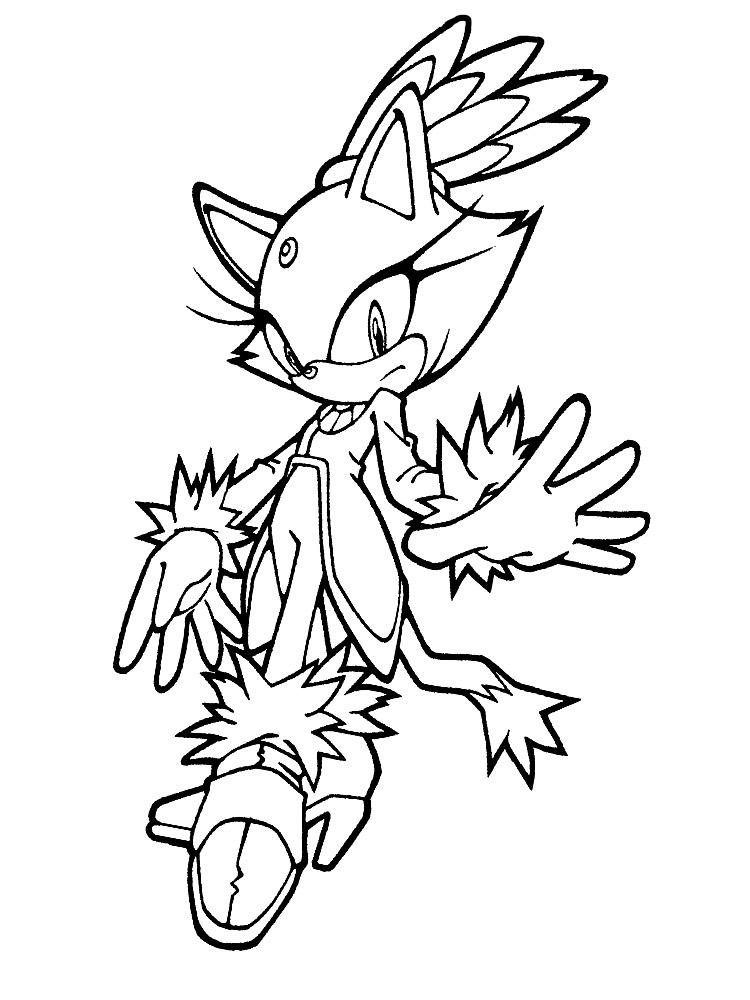 Dibujos para colorear - Sonic.