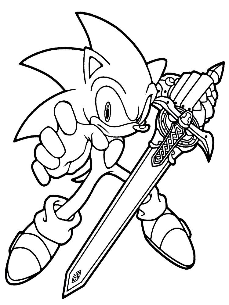 Gratuitos dibujos para colorear – Sonic, descargar e imprimir